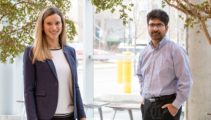 Sophie Poznanski, lead author of the paper and Ali Ashkar, professor of medicine