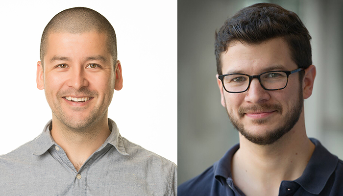 Jeremy Hirota, left, and Andrew Doxey, of McMaster University and University of Waterloo, respectively.
