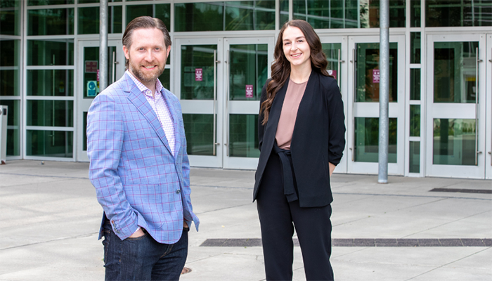 McMaster expert and lead author of this study Matt Miller and graduate student Hannah Stacey